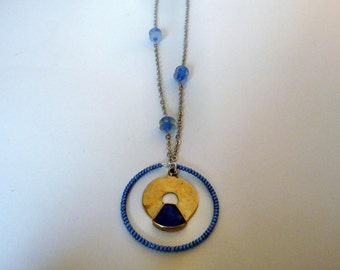 Nekkar - Blue and silver chain necklace