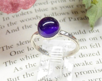 Dark Purple Amethyst Ring