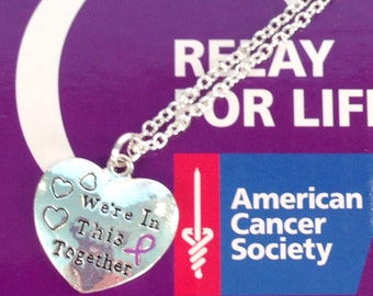 Cancer Awareness Necklace, Relay For Life Fundraiser, Cancer Surivor Jewelry