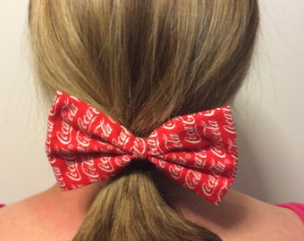 Coca-Cola Large Hair Bow