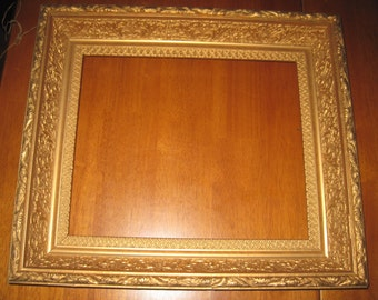 Vintage/antique gold gesso picture frame wooden