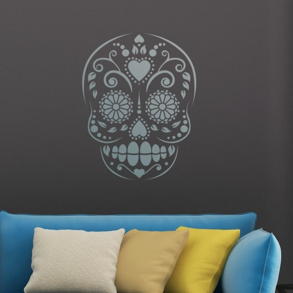 Candy Skull Sugar Skull Motif Stencil Reusable Stencil Home Decorators Catalog Best Ideas of Home Decor and Design [homedecoratorscatalog.us]