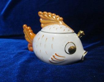 VINTAGE Porcelain Figurine Soviet sisert fish ussr 1980