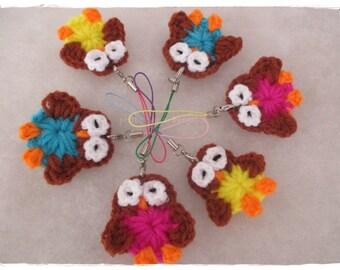 Owl keychain : owl,crochet,handmade,diy,keychain,doll,idea,design,yarn,cotton,polyester,wedding,gift