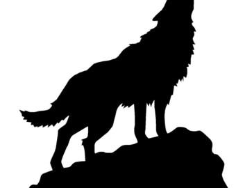 Wolf Vinyl Decal Sticker