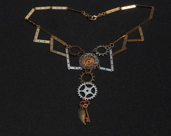 "Steampunk Inspired Necklace - ""Metallurgy"""