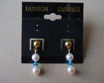 Pearl and Crystal Earrings (Pick Your Set(s)) - Evening, Darling