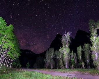 Milky Way over Colorado Mountains, Wall Art, Astrophotography, Fine Art Photography, Wall Decor, Star Photography,