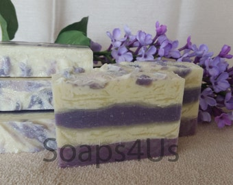 Lilac Handmade soap with true lilac scent! Lilac Cold Process Soap. Floral Soap. Great idea for gift!