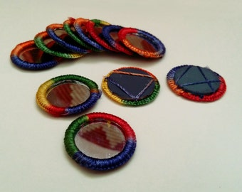 Shisha Mirrors Belly Dance Tribal Fusion ATS Costuming Supply Multi-Color Variegated 1 Dozen