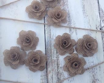 Burlap Flowers, burlap rose, country wedding
