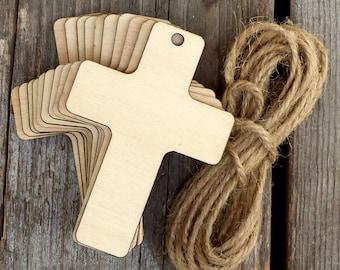 Contreplaqué de 3mm de formes 10 artisanal en bois brut Christian croix