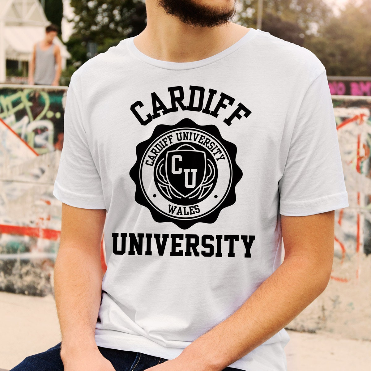 cardiff university logo t shirt all colours and sizes. Black Bedroom Furniture Sets. Home Design Ideas