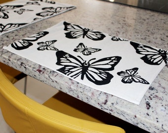 100% Recycled Table Mat. Set x 4 Butterfly Design