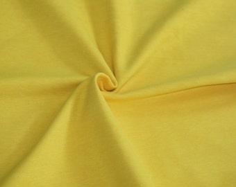Knit Mustard Yellow Solid Fabric 1/2 yard