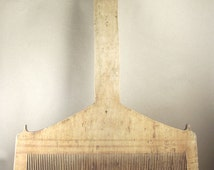 Old-time wooden comb/  primitives home decor/ antique wooden comb/ vintage home decor