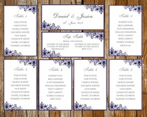 Popular items for dinner seating on etsy for Dinner seating plan template