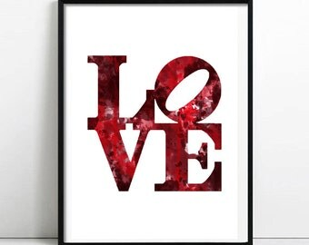 LOVE red print