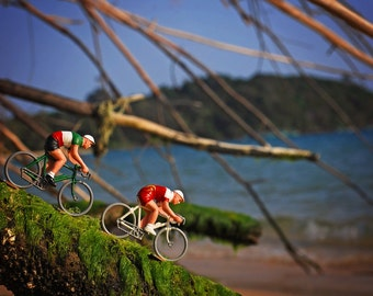 Cycling photo print - Little Cyclists Beach racing in Cambodia - home decor or great gift for cyclist