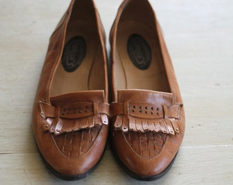 Vintage Florans Leather Flats Womens Size 6.5