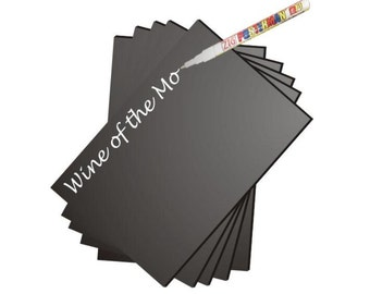 Pack of 10 Eaziwipe Chalkboard, 150mm x 100mm, 3mm Thickn, Arts & Crafts, Price Tags, Blackboards, Guaranteed against staining for 5 years!