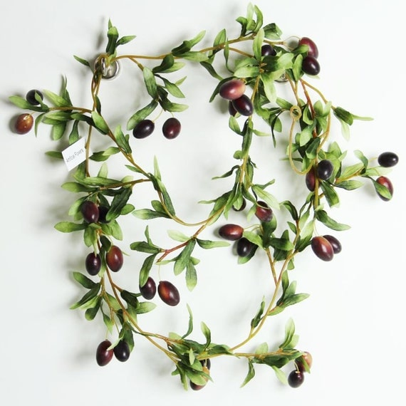 Artificial olive vine fake olive garland great for displays for Artificial hops decoration