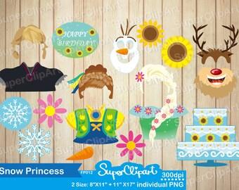Frozen Props for Frozen Birthday Party. Frozen photo booth props Frozen Printables. Frozen Fever photobooth props