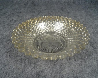 Vintage Glass Serving Dish