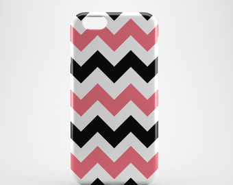 Pink and White Chevron Phone case,  iPhone X Case, iPhone 8 case,  iPhone 6s,  iPhone 7 Plus, IPhone SE, Galaxy S8 case, Phone cover, SS130b
