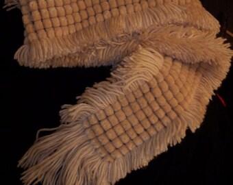 "New Handmade Beige Womens Scarf 6"" x 62"""