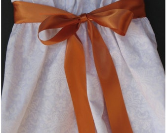 "New 3 yards Double Faced Burnt Orange Satin Ribbon 1-1/2"" wide, 1-1/2"" Sienna Satin Sash"