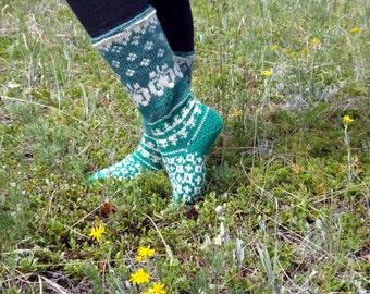 Wool socks, size 7 - 8 / 37-38