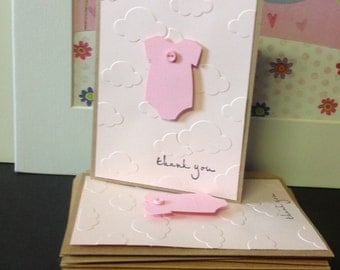 Thank you Cards, Baby, Set of  12,  Congratulations, Baby shower,, Party, Baby Announcement, Welcome baby,