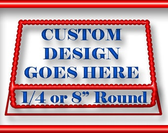 "Complete CUSTOM DESIGNED 1/4 or 8"" Round Sheet Edible Image Cake Topper"