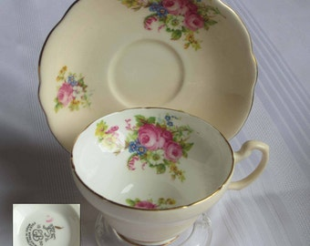 Free Shipping Foley China by E.Brain- V2822 Bone China Tea Cup and Saucer - Made in England