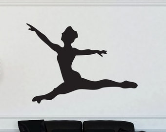 Dancer Silhouette Leap Vinyl Wall Decal Graphic