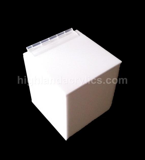 Acrylic Boxes Custom Made : Custom hand made white acrylic storage box by highlandacrylics