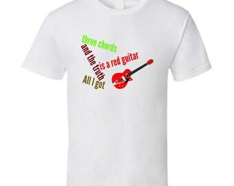 All I Got Is A Red Guitar T-Shirt