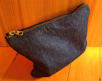 Bike Tool Zippered Pouch / Jean Pouch with a  Repurposed Zipper