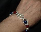 Red White & Blue Beaded Bracelet