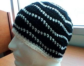 Crochet Mens Weave Beanie