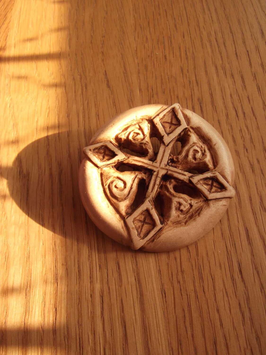 Mystical carved sycamore brooch
