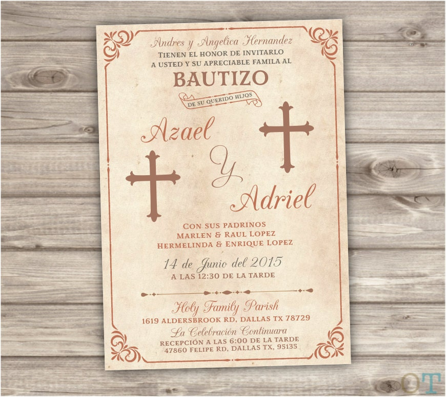 Spanish Baptism Invitations is an amazing ideas you had to choose for invitation design