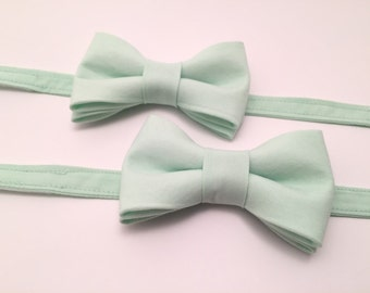 Mint Father Son Bow Tie set, Mint Green Bow Tie, Mens Bowtie, Bowties, Bow Ties for Boys, Kids Bow Ties