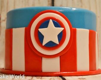 Captain America Cake Toppers, Avenger's cake, Super Heroes cake topper, Captain America birthday party Avenger's birthday cake