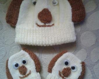 Cute baby hat & gloves
