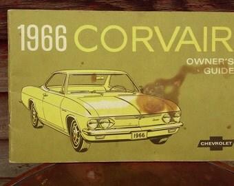 Vintage 1966 Covair Owners Manual Chevy Covair