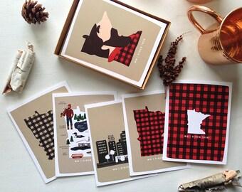 Minnesota 1858 Series Set   6 Cards w/ Envelopes