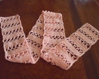 Breast Cancer Awareness Crochet Scart