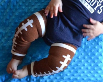 Football Birthday Party Theme Leggings Leg Warmers Baby Crawlers Toddler Leggings  - READY TO SHIP